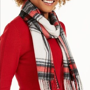 Charter Club  Plaid Woven Cashmere Scarf